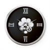 Industry Roman Face Gear Wall Clock